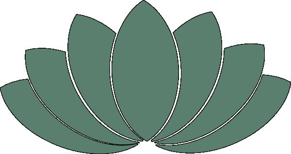 Green clip art at. Lotus clipart