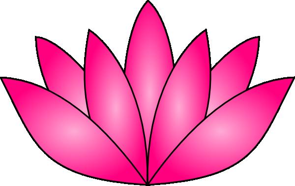 Pink clip art at. Lotus clipart