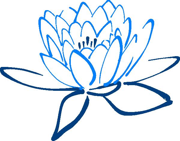 Light dark clip art. Lotus clipart blue lotus