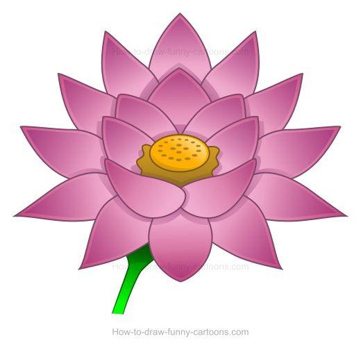 Clip art flower free. Lotus clipart cute