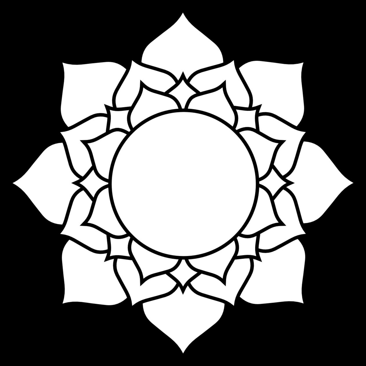 lotus clipart easy