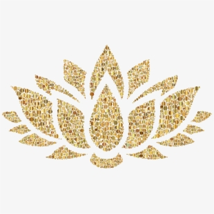 Lotus clipart esthetician. Gold flower png