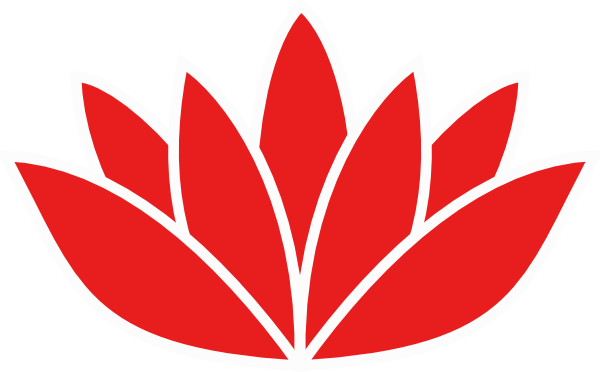 Lotus flower graphic png. Red orange picture clip
