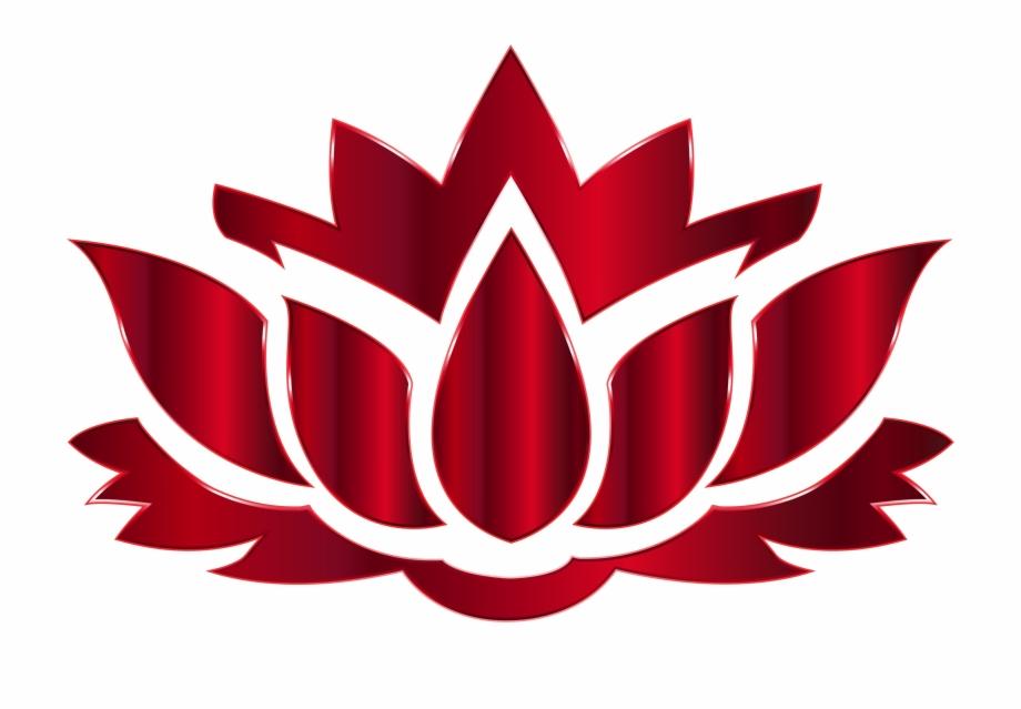 Lotus clipart red lotus. Flower logo png clip