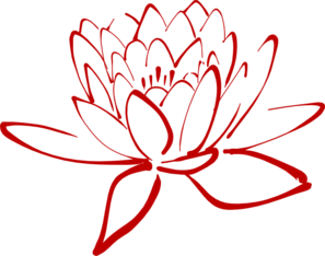 Lotus clipart red lotus. Clip art at clker