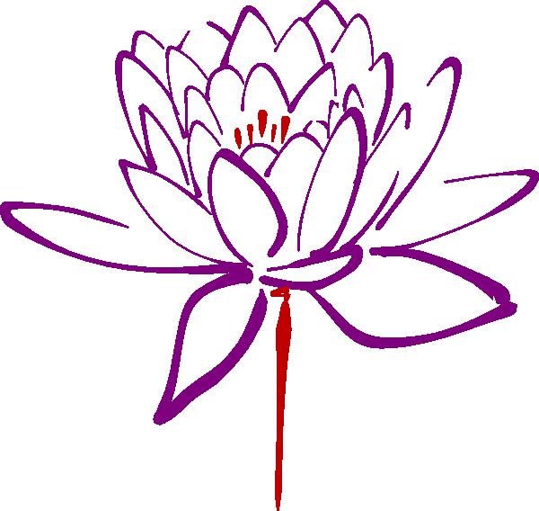 Lotus clipart red lotus. Purple clip art at
