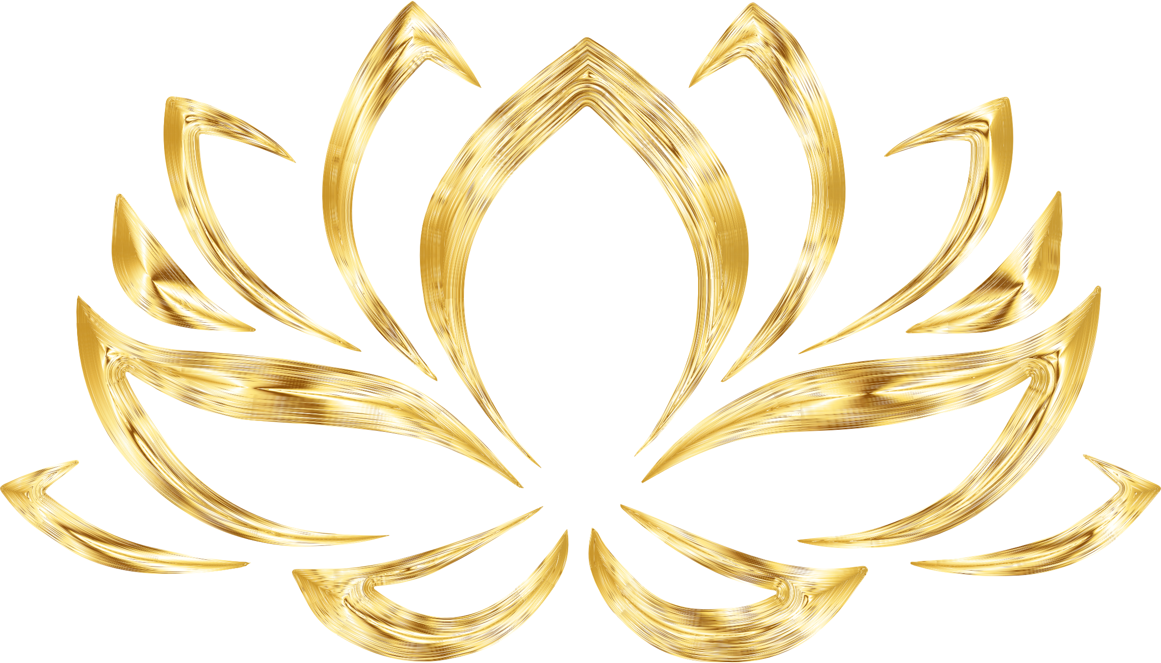 Lotus flower graphic png. Clipart aurumized no background
