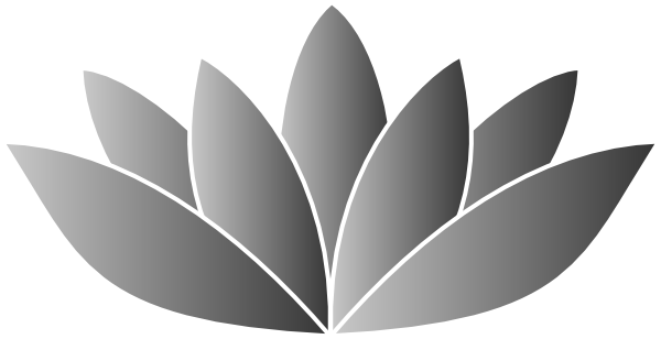 Silver flower clip art. Lotus vector png