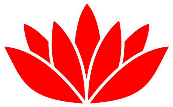 Red flower picture clip. Lotus vector png