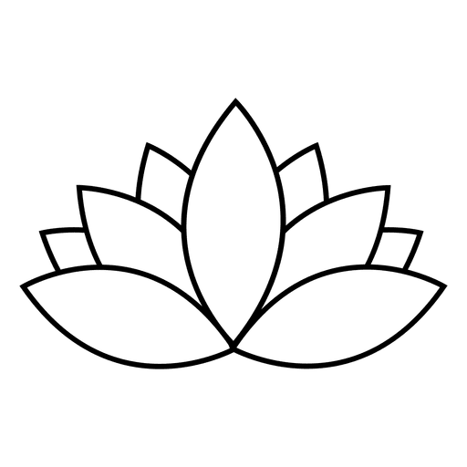 Lotus vector png. Stroke flower transparent svg