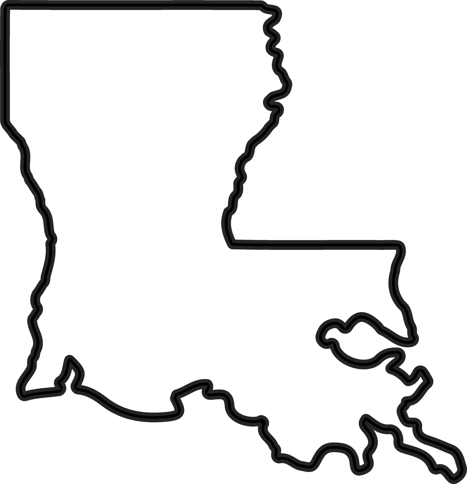 Louisiana clipart. Outline rubber stamp state