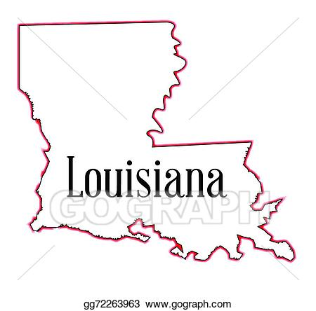 Louisiana clipart background. Eps vector stock illustration