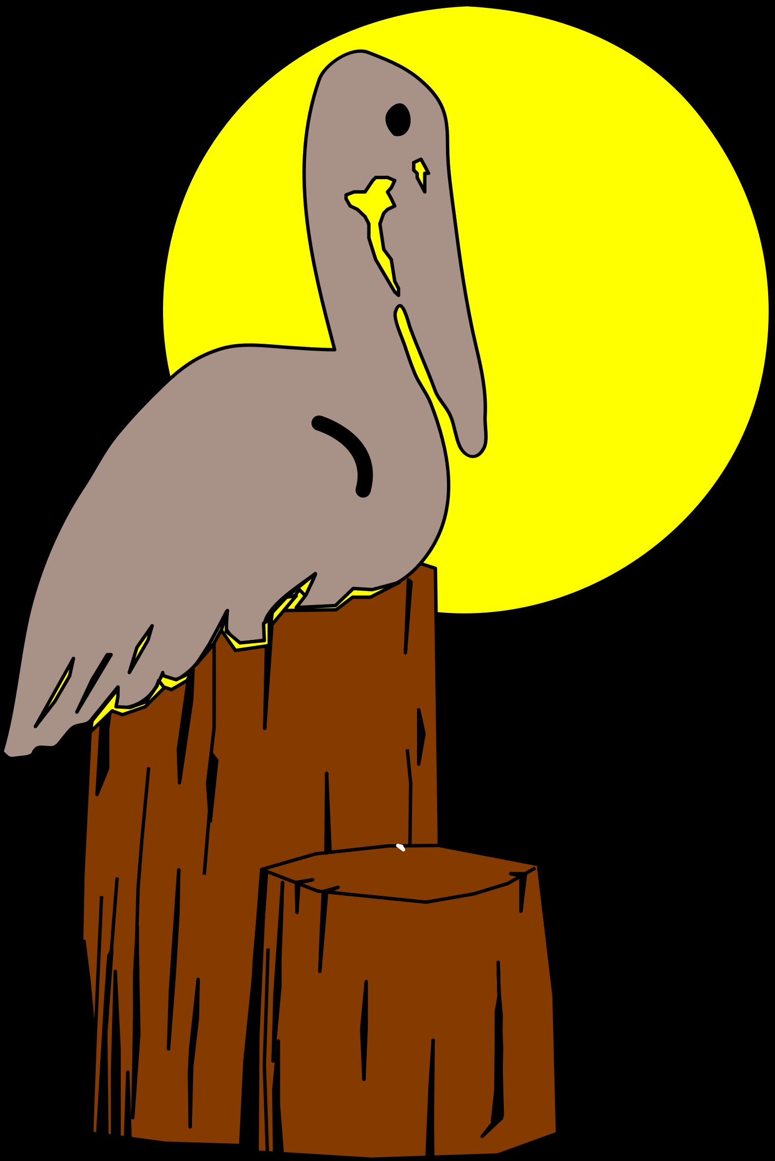 Pelican clipart vector. Louisiana state bird big