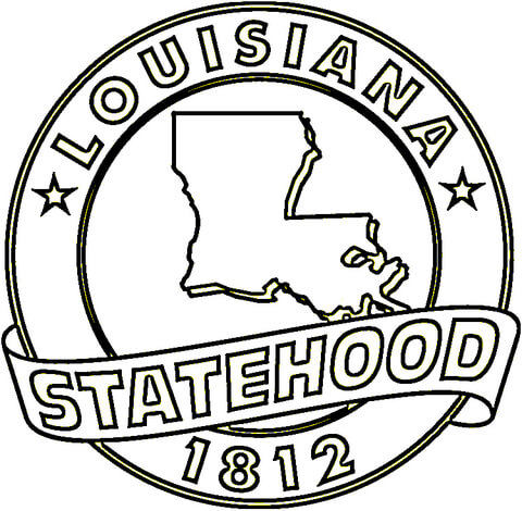 State of free printable. Louisiana clipart coloring page