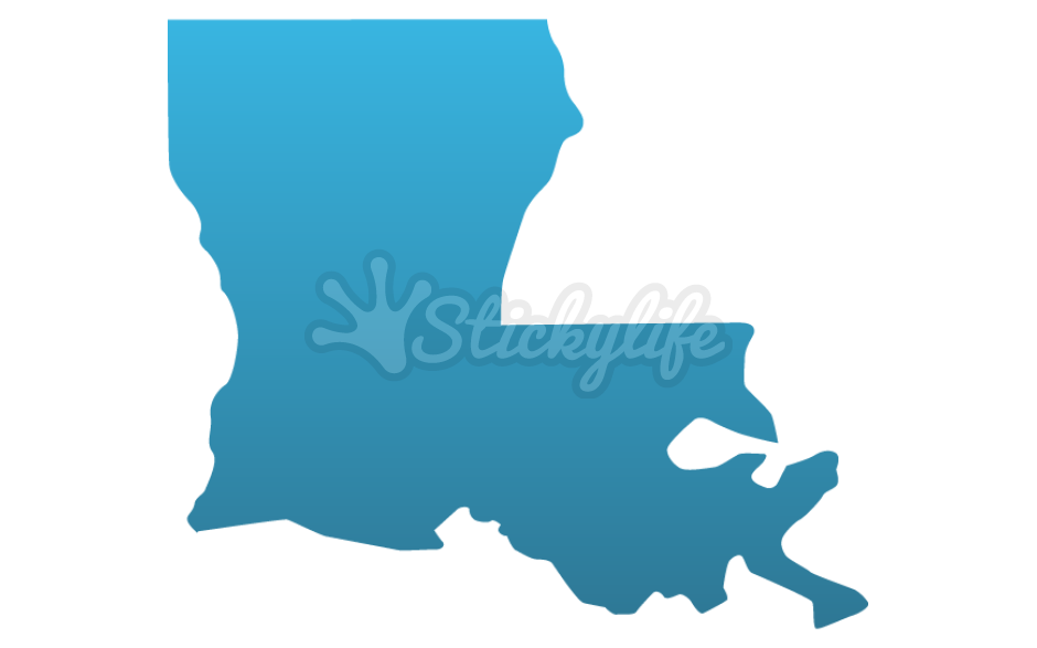 Louisiana clipart decal. Decals