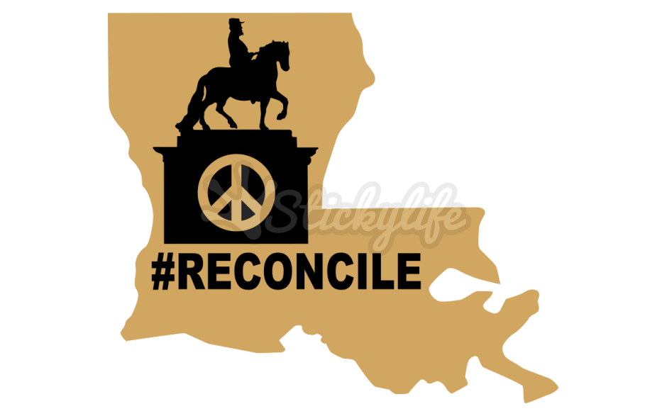 Reconcile the past. Louisiana clipart decal