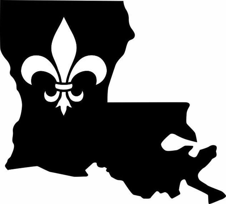 Louisiana clipart decal. State fleur de lis