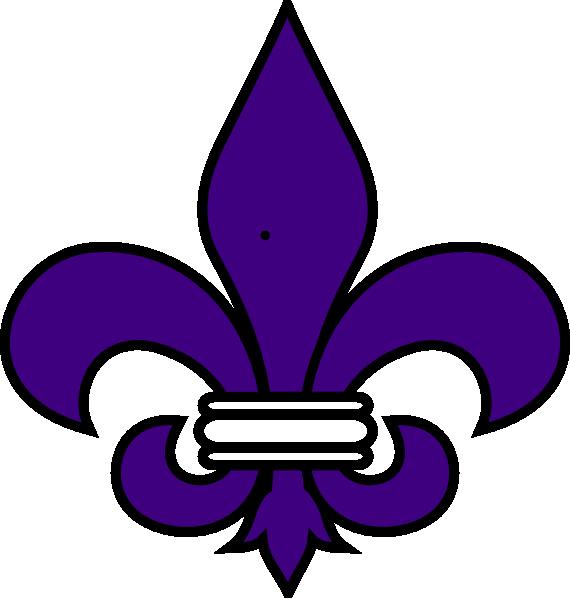 De lis purple clip. Louisiana clipart fleur