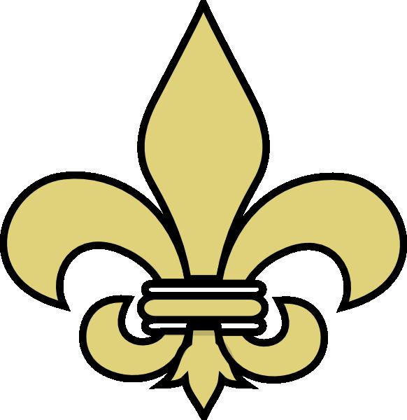 Louisiana clipart fleur. De lis gold with
