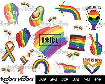 Louisiana clipart pride. Gay clip art etsy
