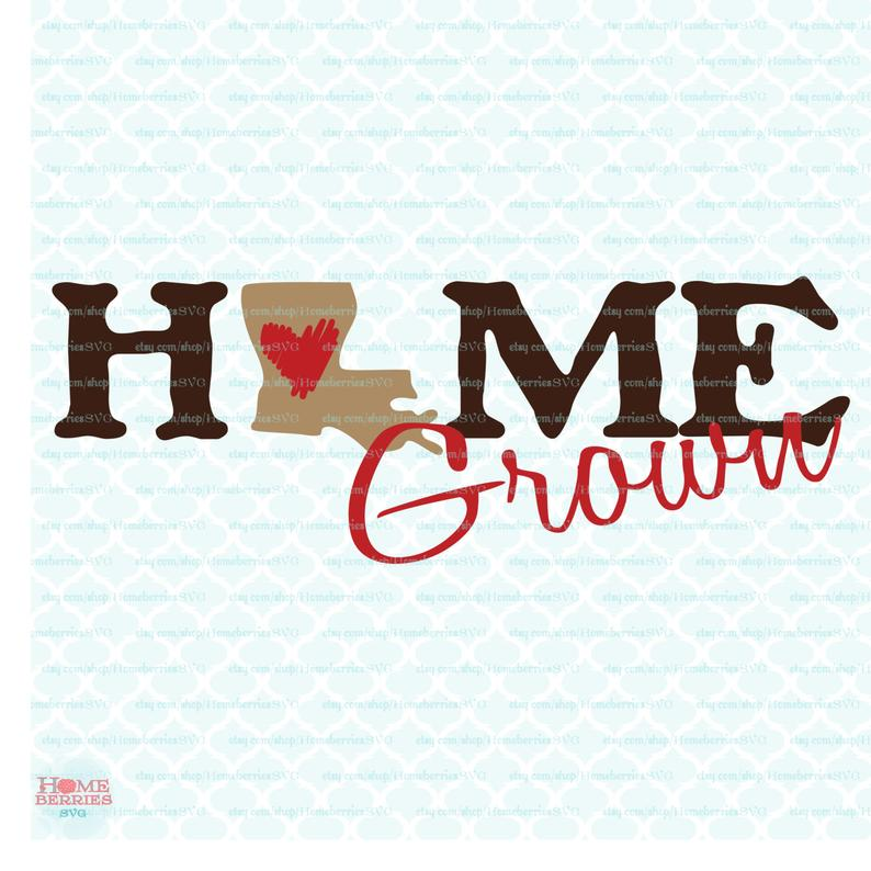 State svg home grown. Louisiana clipart pride