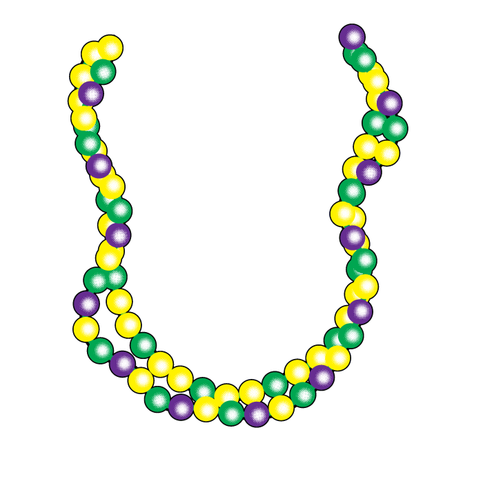 Mardi gras border png. Beads new orleans fat