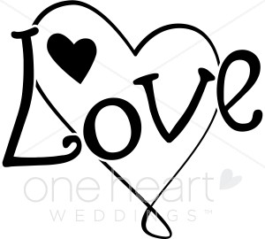 Graphics the printable wedding. Love clipart