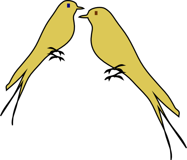 Birds clip art at. Love clipart love bird