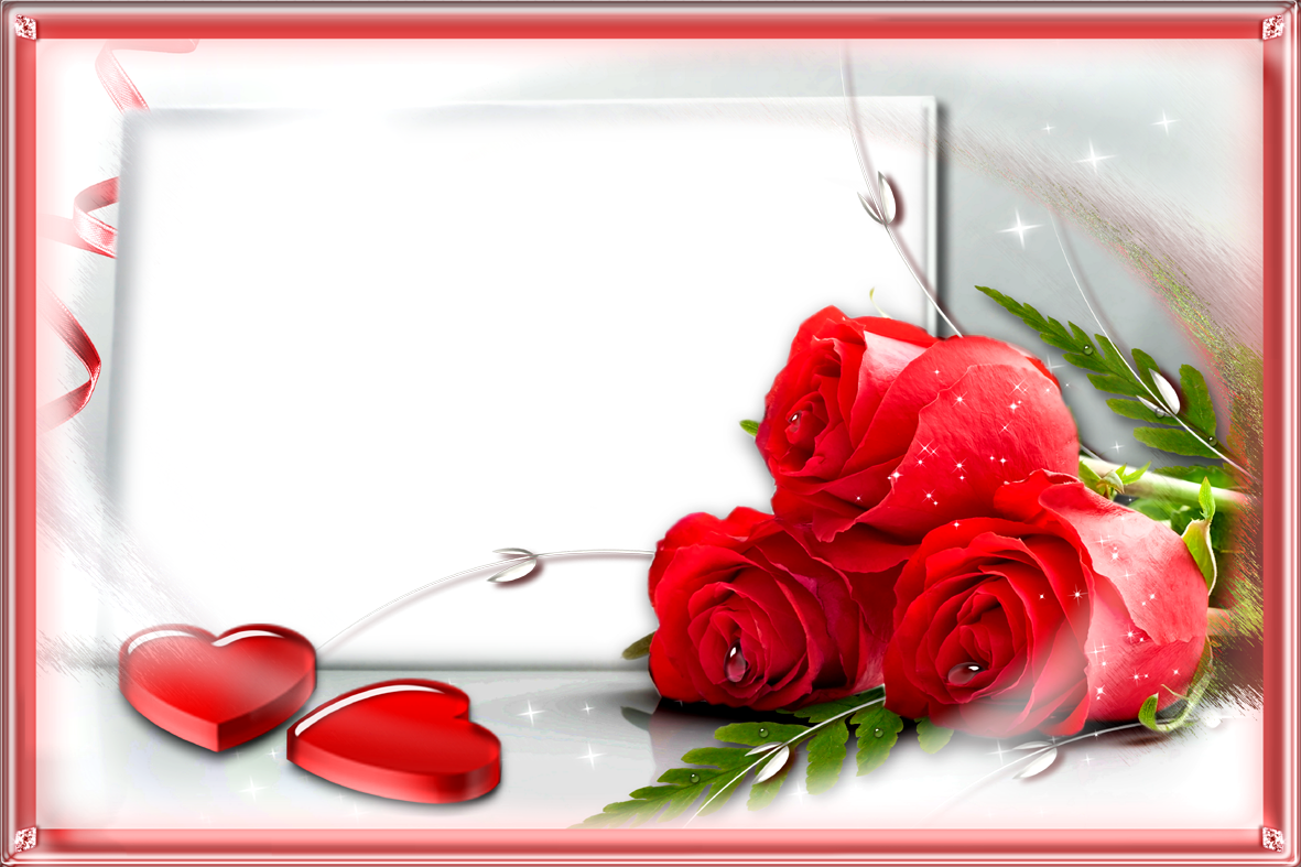 Love frame png. Red rose frames images