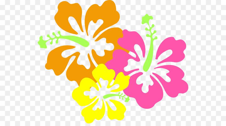 Shoeblackplant hawaiian hibiscus flower. Luau clipart