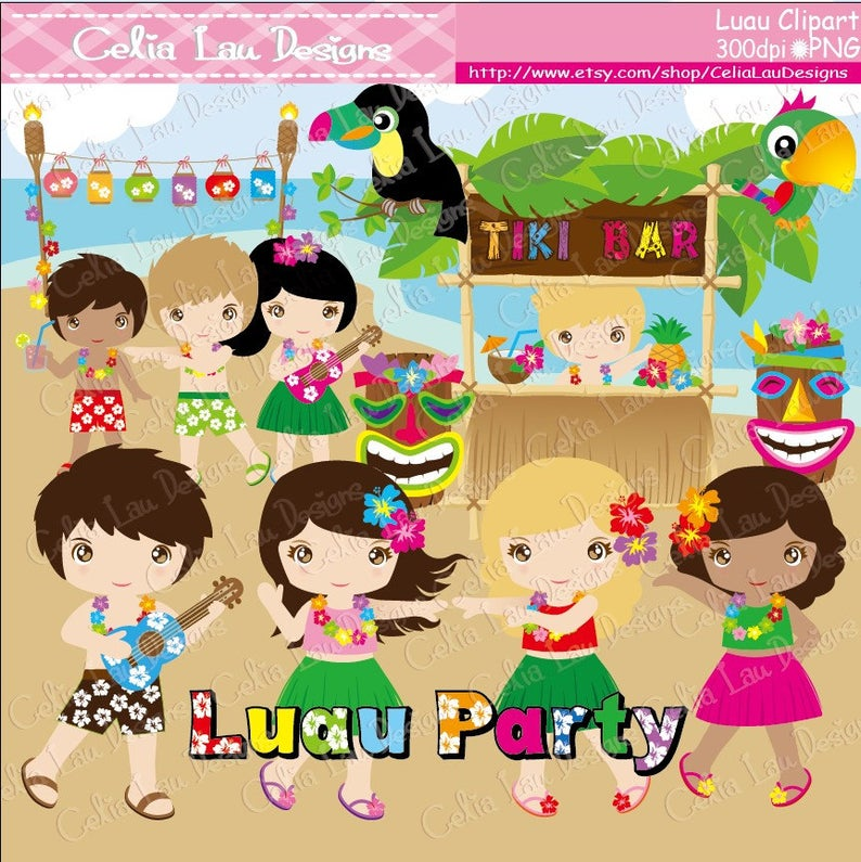 Luau clipart aloha. Party clip art hawaii