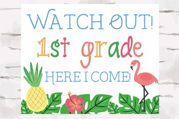 Luau clipart back to school. Poster st grade here