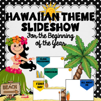 Open house powerpoint template. Luau clipart back to school