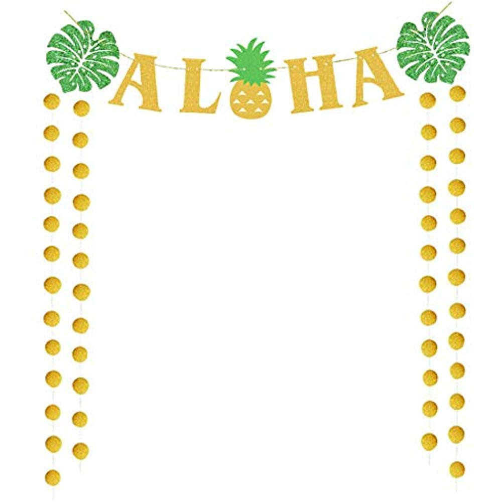 Details about glitter hawaiian. Luau clipart banner