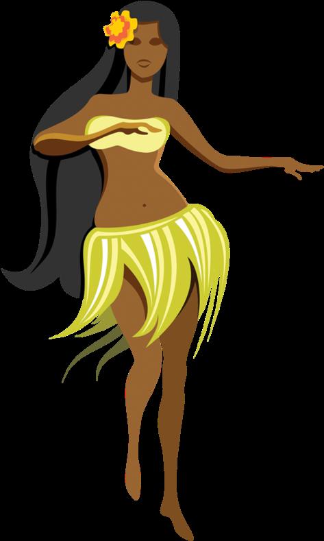 Dancer dancing hawaiian girls. Luau clipart couple