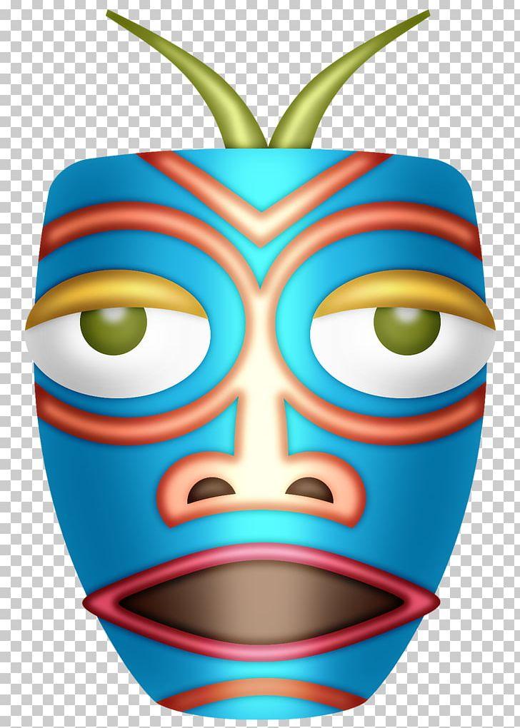 Hawaiian aloha tiki png. Luau clipart faces