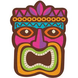Luau clipart faces. Download tiki clip art