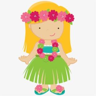Luau clipart hawaiian baby. Hawaii hula girl clip