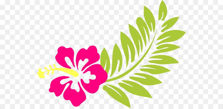 Flower background . Luau clipart hawaiian floral