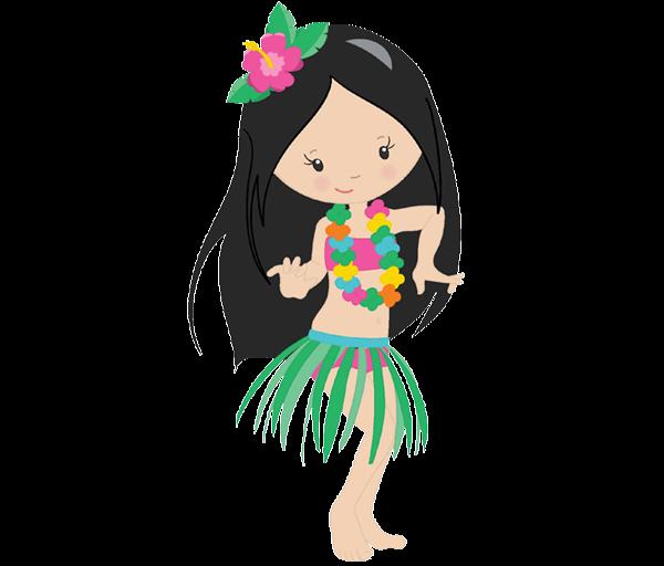 Luau clipart hula dancer. Girl candy bag label