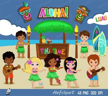 Hawaii hula girl aloha. Luau clipart literacy