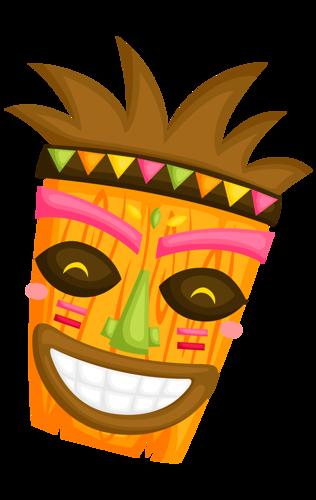 Luau clipart mask. Hawaiian aloha tropical party