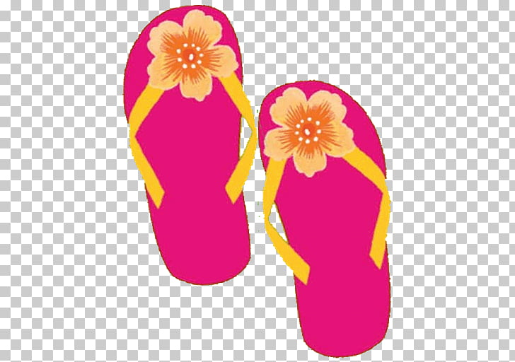 Cuisine of hawaii tiki. Luau clipart pink flip flop