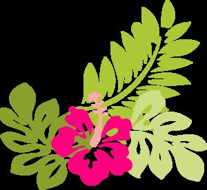 Clip art borders free. Luau clipart rainforest flower