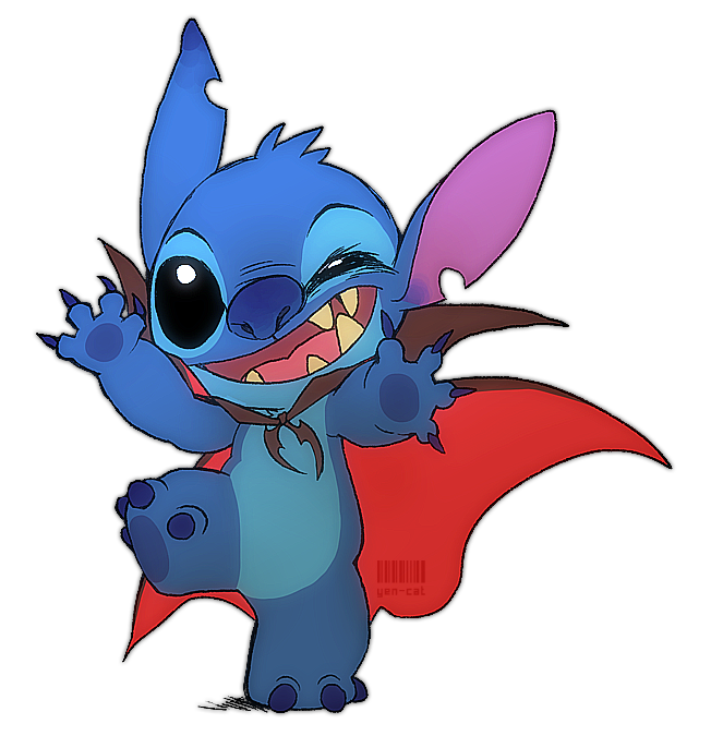 Stitch clipart bad. Or trick by yen