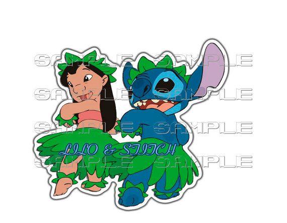 Stitch clipart luau. Disney lilo birthday printable