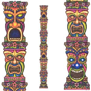 Jointed tiki pictures art. Luau clipart totem pole