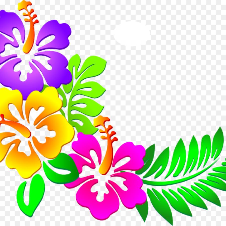 Christmas clip art flower. Luau clipart transparent