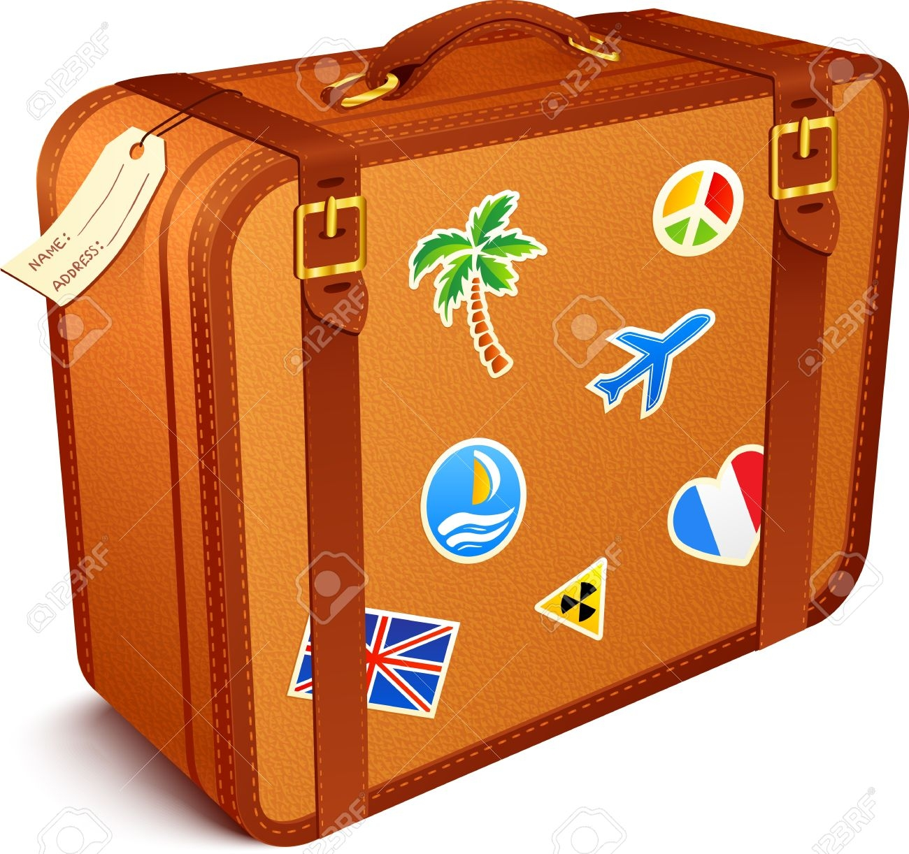 Luggage clipart. New collection digital coloring