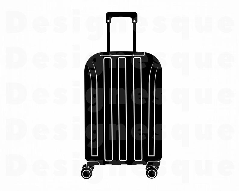 Svg suitcase vacation travel. Luggage clipart